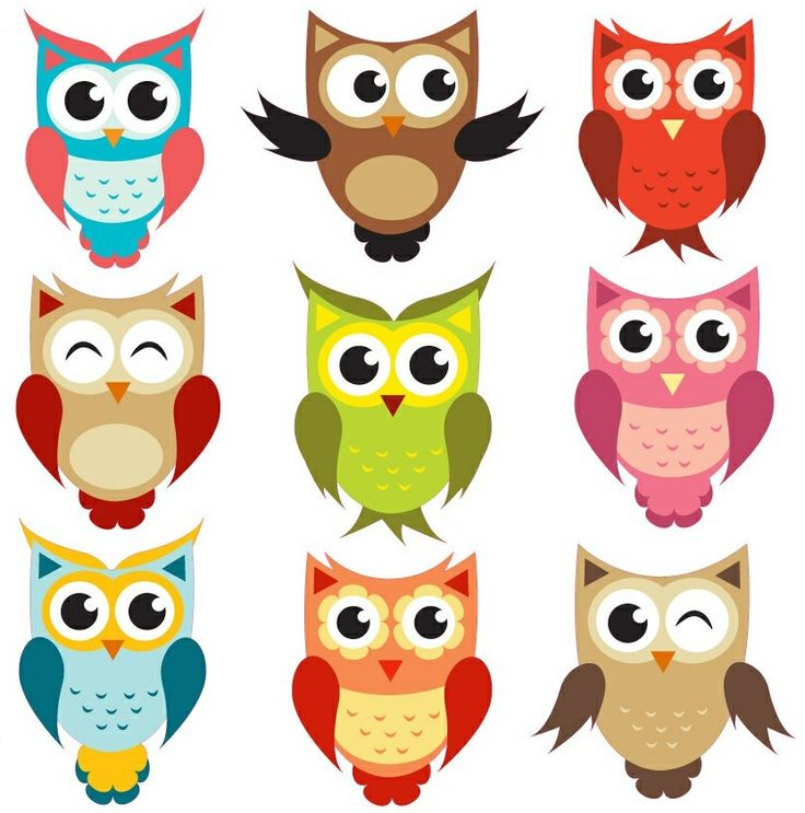 Anything owls that look like these owl clipart being a ...