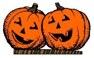 Backyard gardener pumpkin clip art