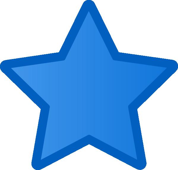 Blue star clip art at clker com vector clip art online royalty