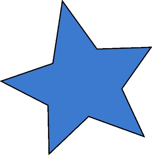 Blue star clip art blue star image