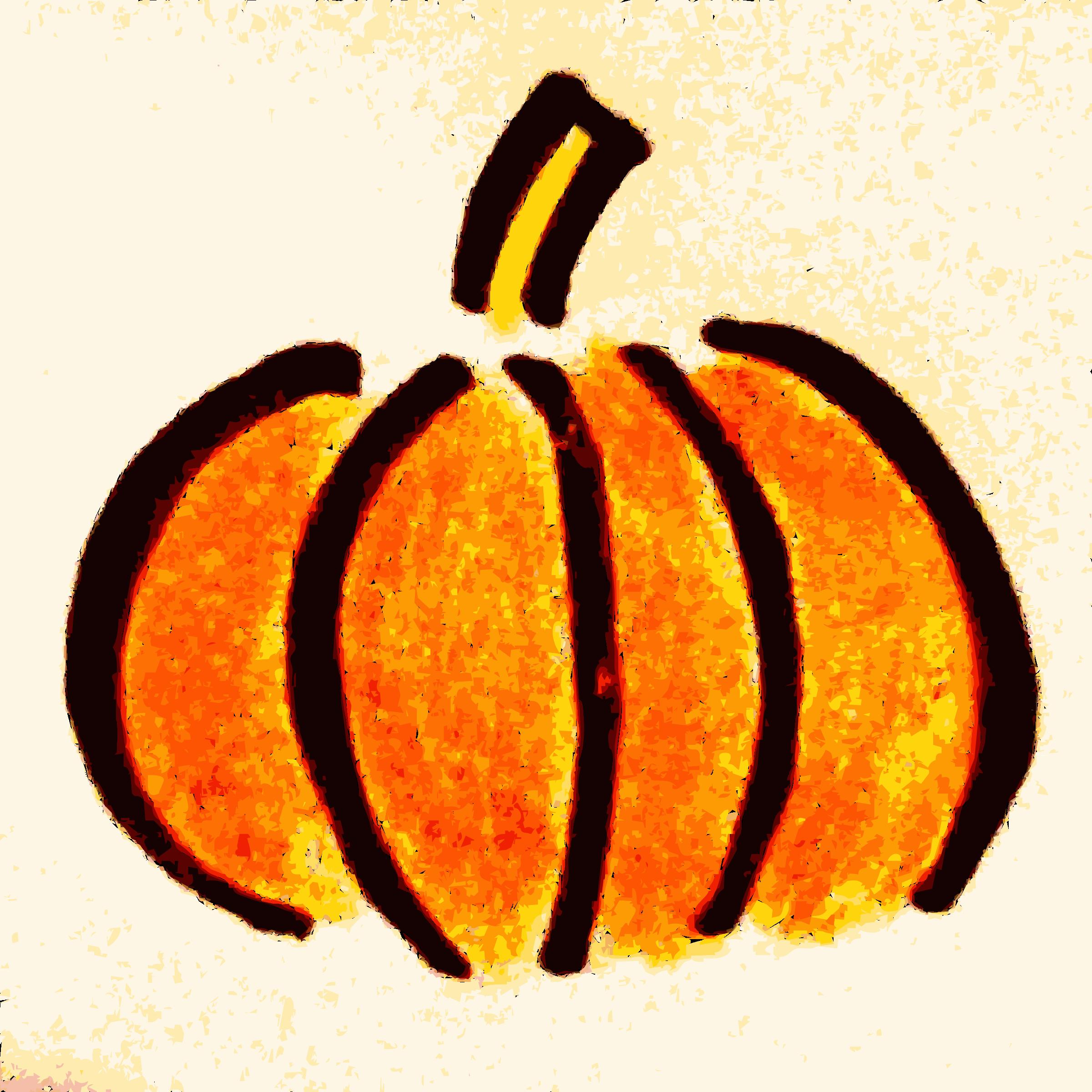 Clipart hand drawn pumpkin clipart