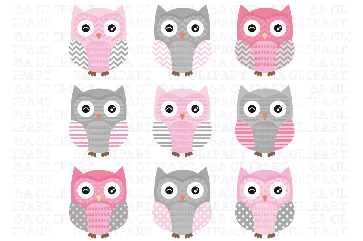 Grey owl clipart products creative market