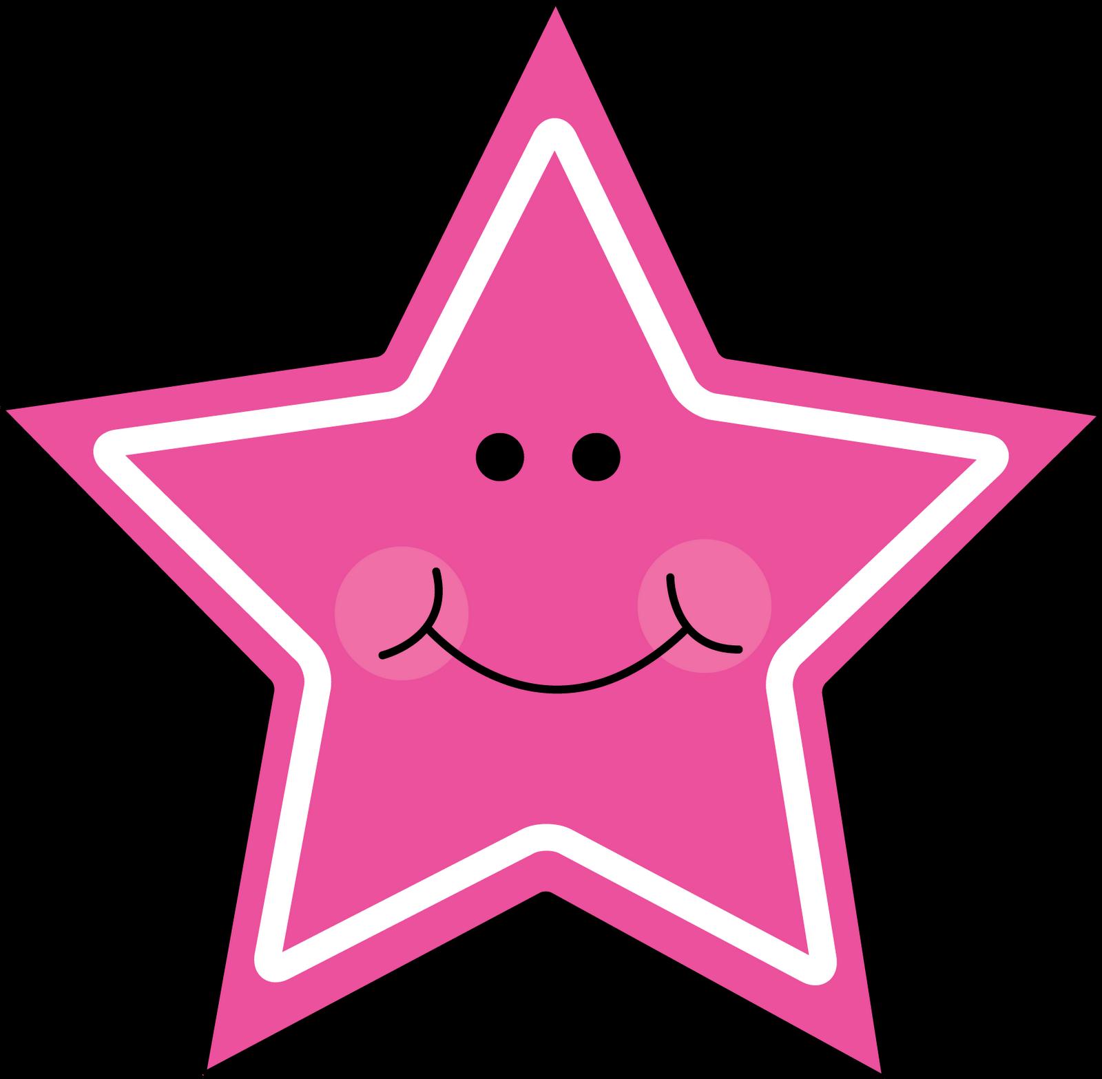 Pink star clip art clipart