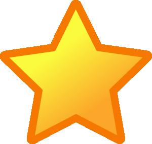 Yellow star clip art at vector clip art online