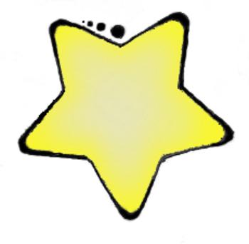 Yellow star clip art