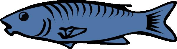 Blue fish clip art free vector