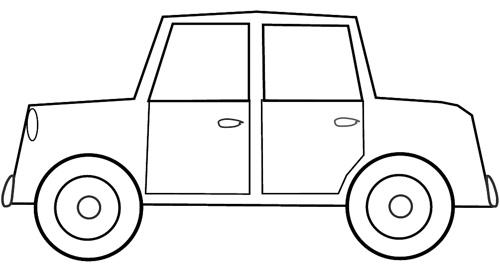 Car sketch clipart to colour cm long a photo on