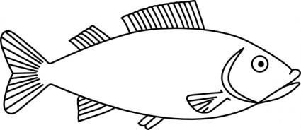 Fish outline clip art free vector in open office drawing svg