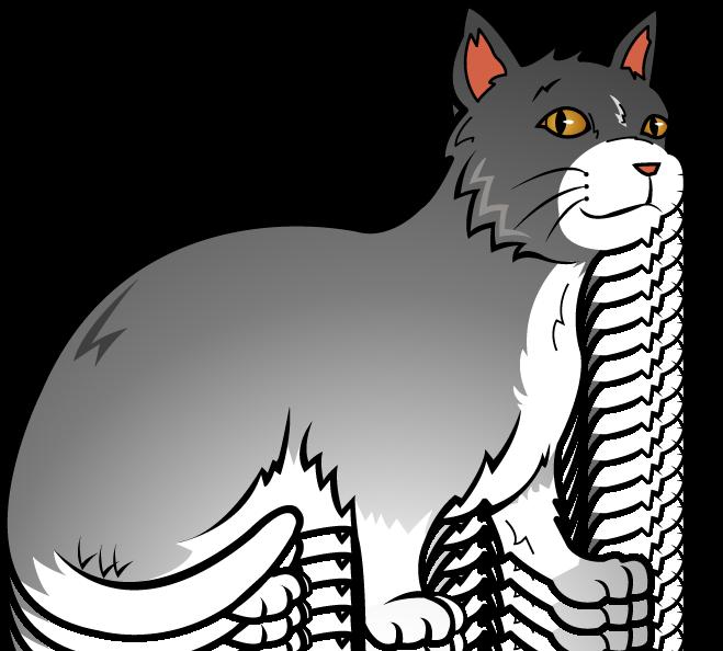 Free art clip of cat clipart