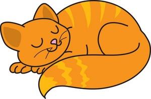 Free clip art cat sleeping clipart