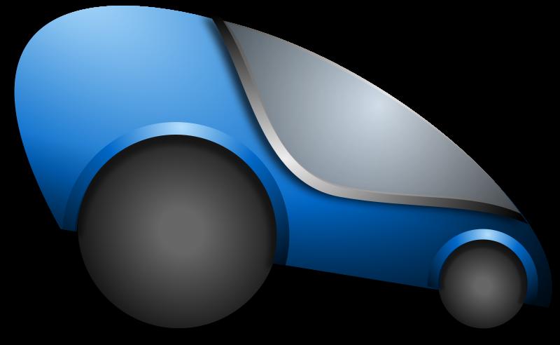 Futuristic car clip art