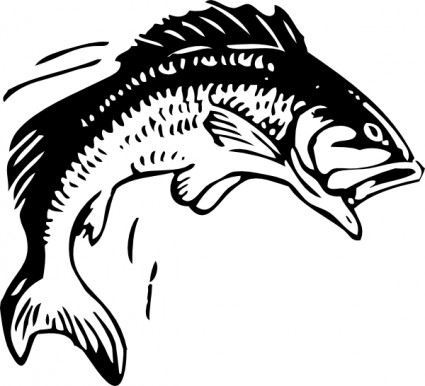 Jumping fish clip art free vector in open office drawing svg