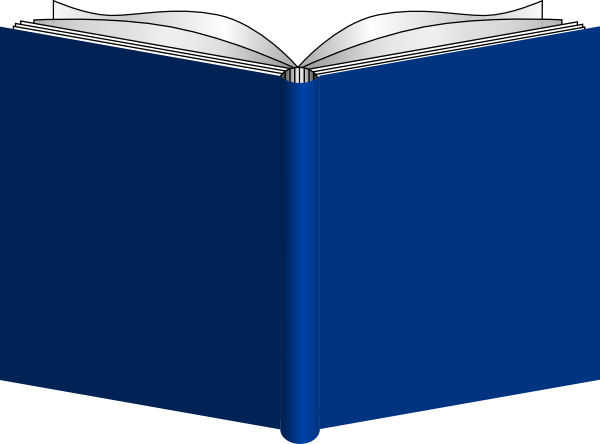 Open book clip art free vector