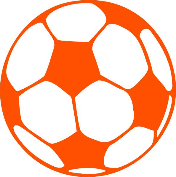 Orange soccer ball clipart free clip art images