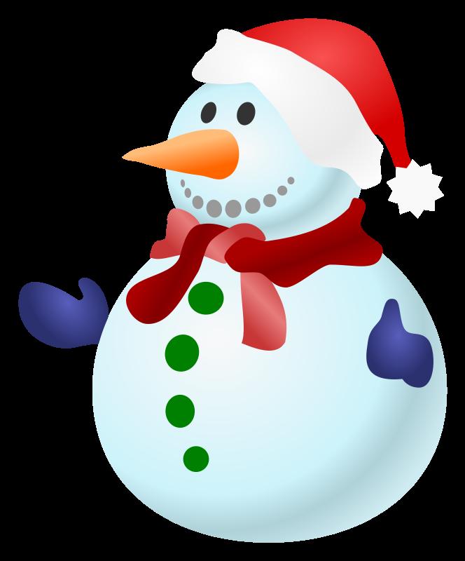 Snowman clip art  5