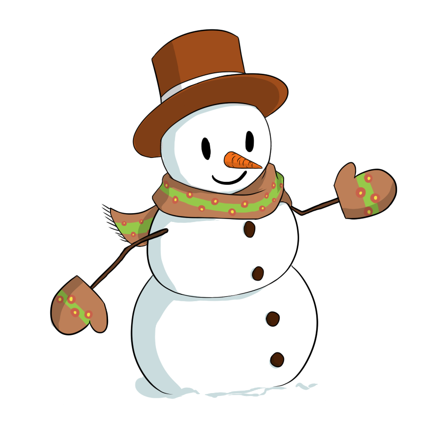 Snowman clip art holidays 2