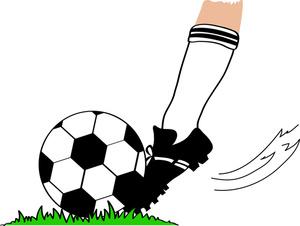 Soccer ball soccer clipart image football player kicking a football or