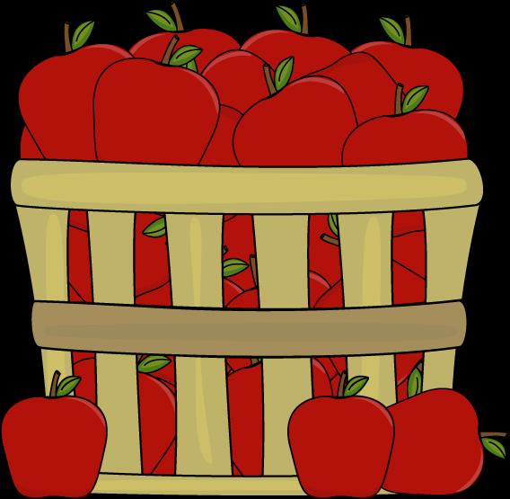 Apples in a basket clip art apples in a basket image