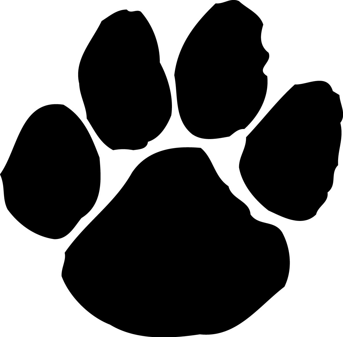 Clip art dog paw print clipart