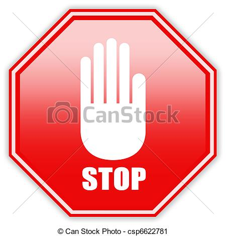 Clipart of stop sign stop hand sign csp1 search clip art