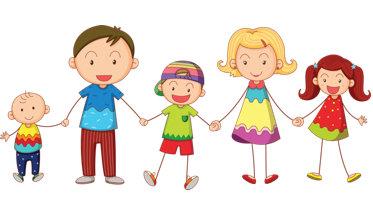 Family clip art holidays 3