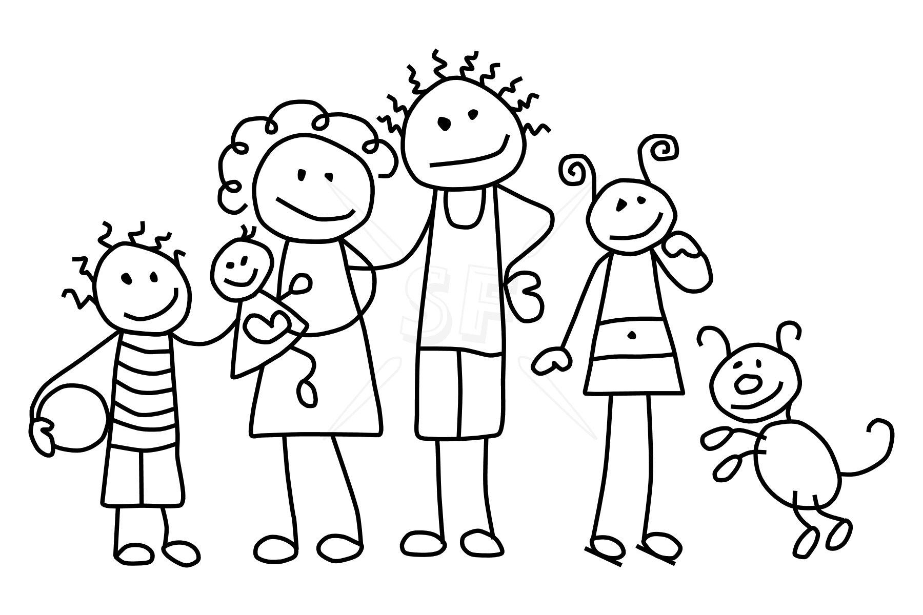 Family hibiscus clip art