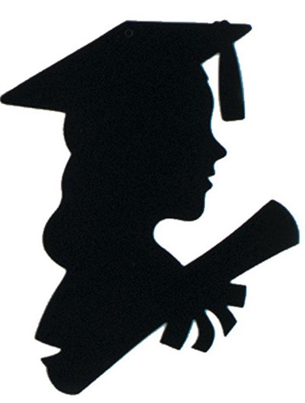 Graduation female silhouette graduate clipart clipart