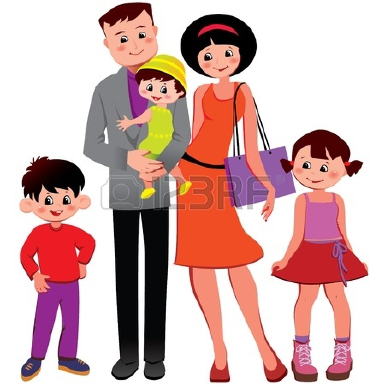 Happy family clip art black and white hd family time stock vector