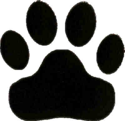 Leopard paw prints clip art clipart