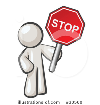 Stop sign clipart illustration by leo blanchette