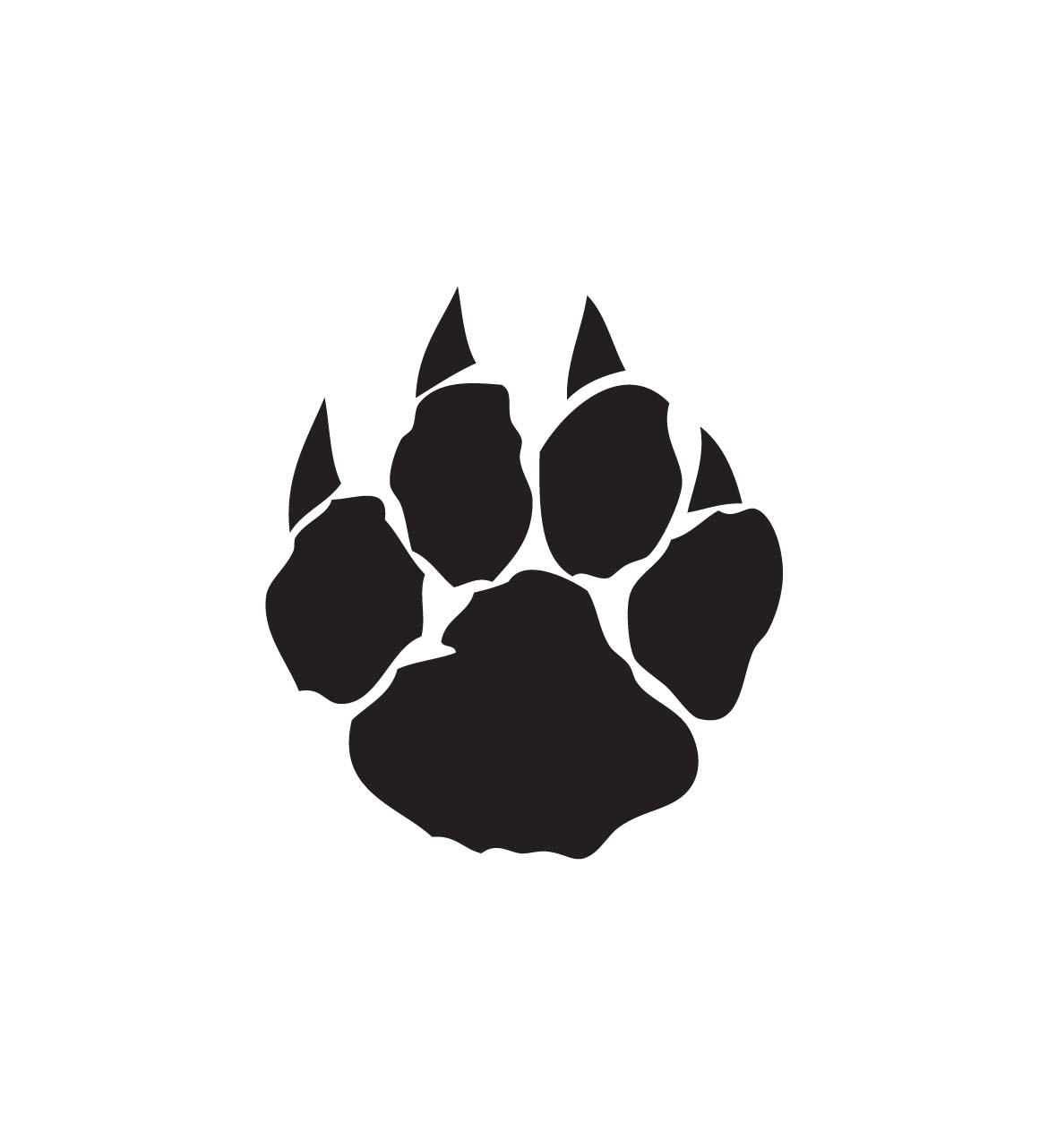 Wildcat paw prints