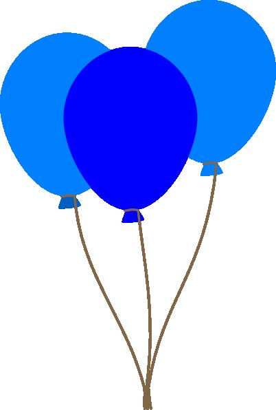 3 blue balloons clip art at vector clip art online