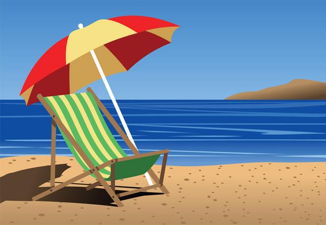 Beach chair clipart free clip art images