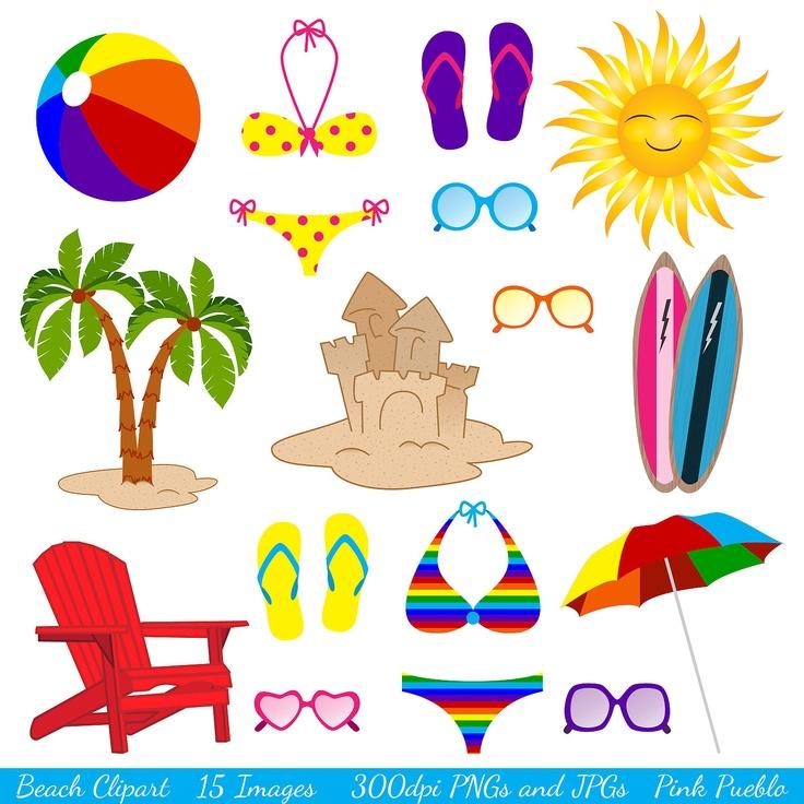 Beach clipart clip art summer vacation travel clipart clip art