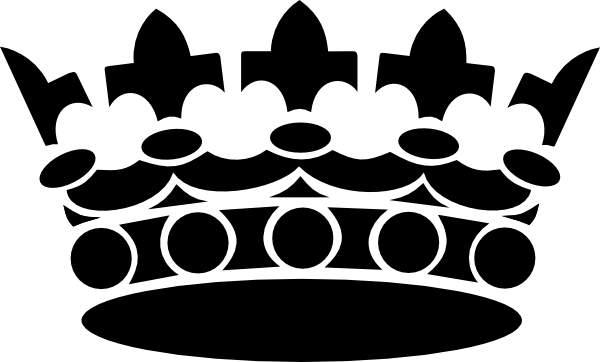 Black crown clip art at vector clip art online