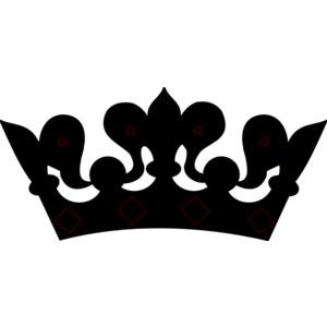 Black crown clip art clipart