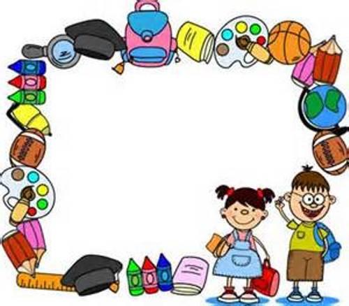 Clip art border school clipart