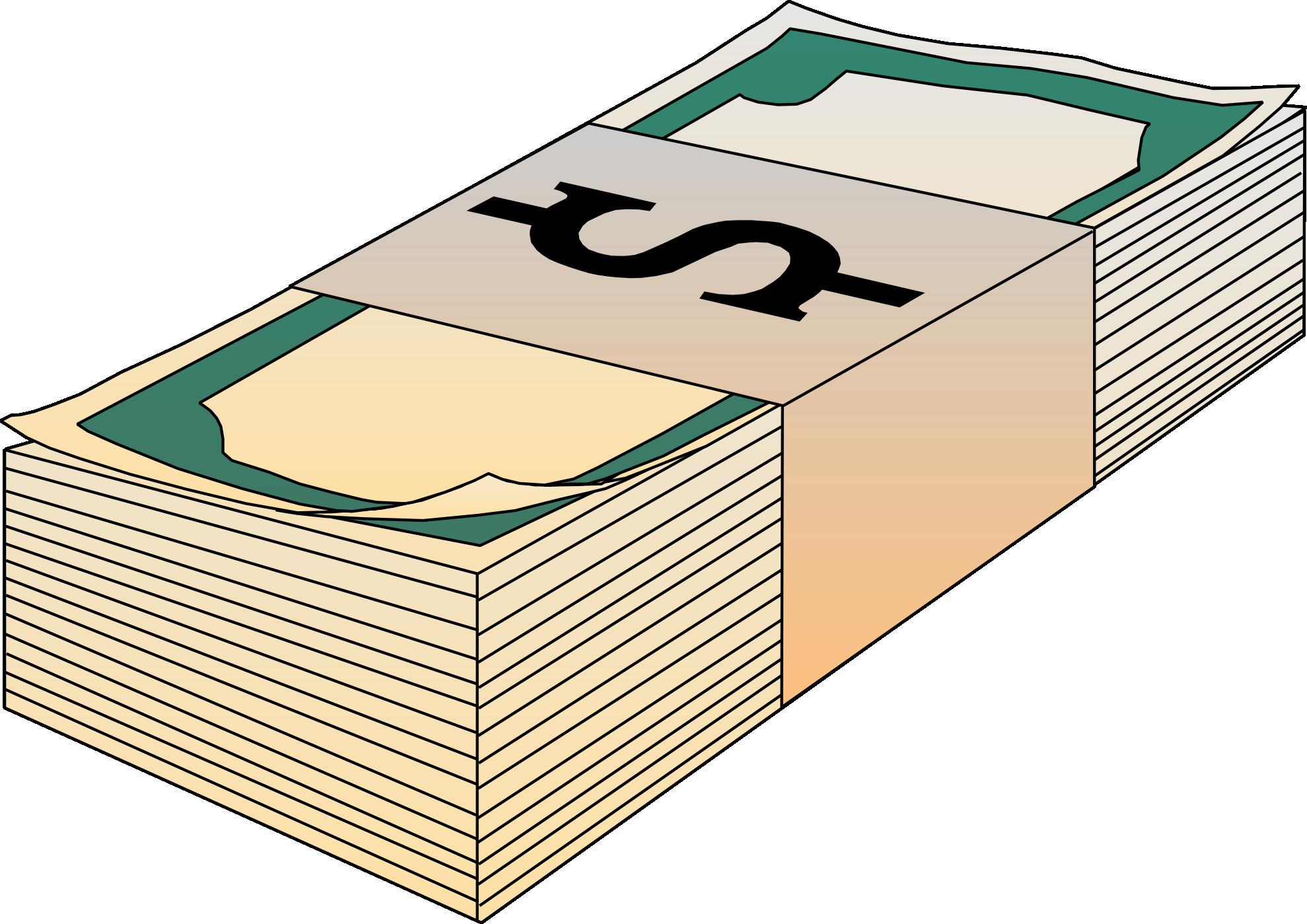 Clip art money bills