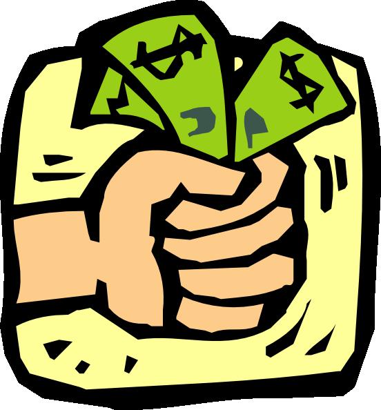 Fist full of money clip art free vector