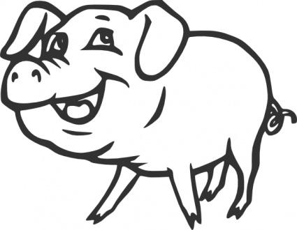 Flying pig clip art clipart 2