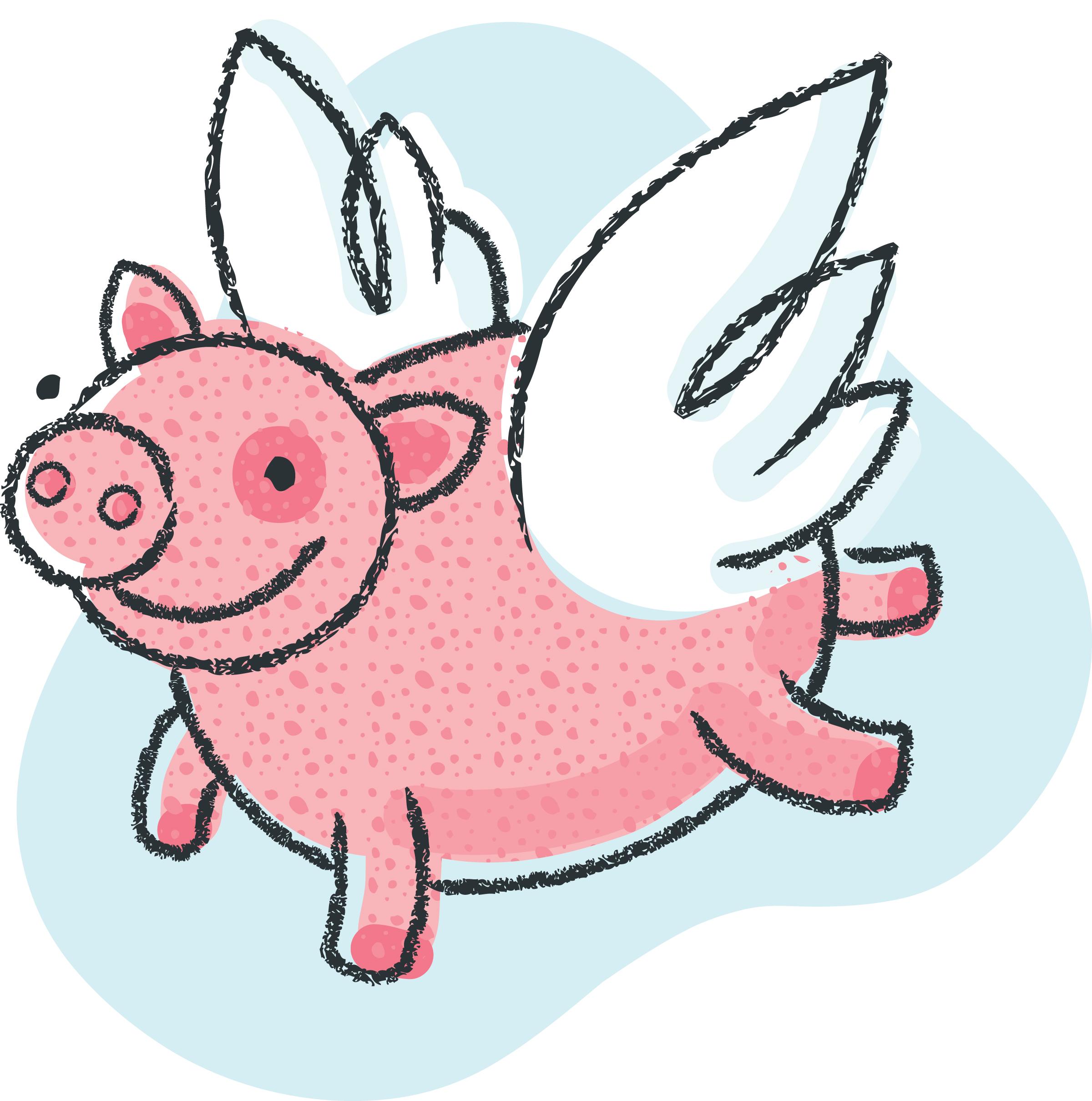 Flying pig clip art clipart