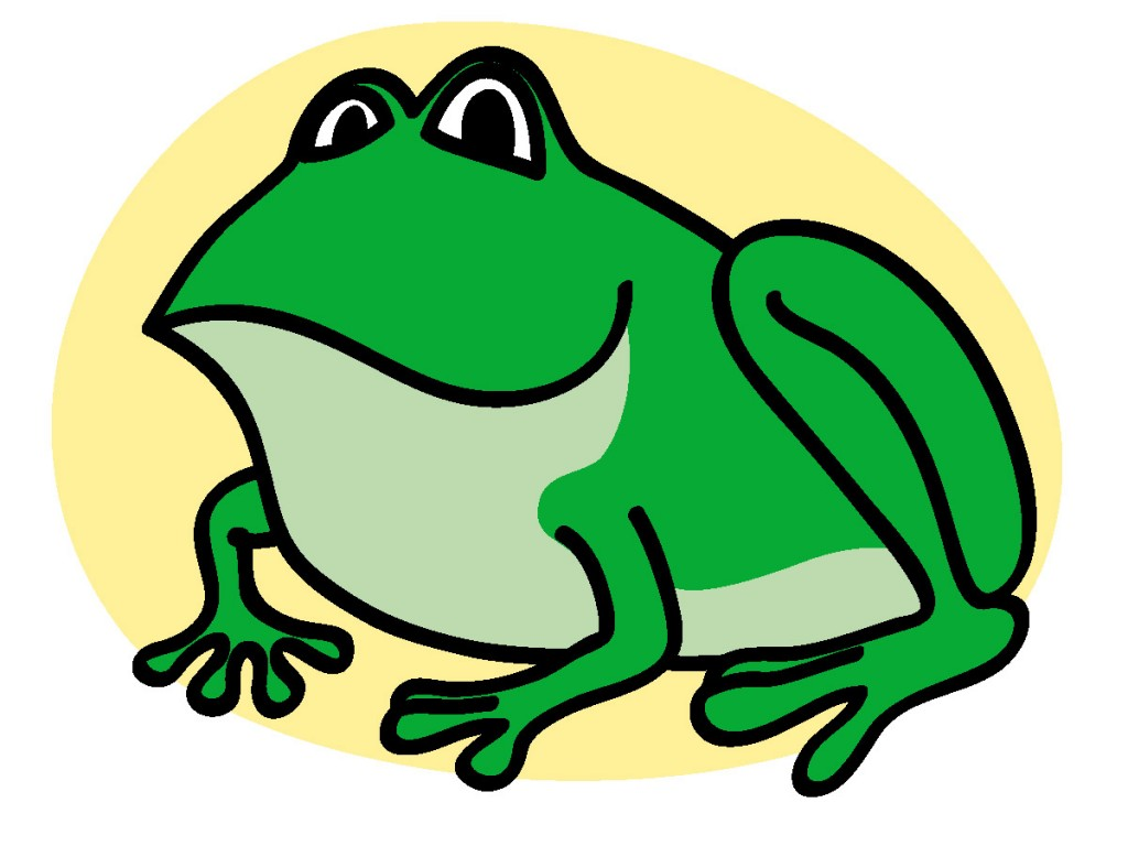 frog clipart image frog on a lily pad in a pond image 1733