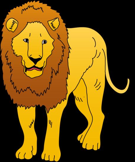 Golden lion illustration clipart free clip art images