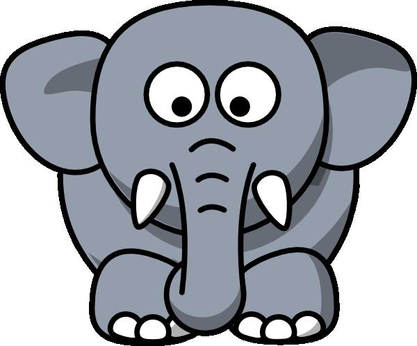 Gray elephant clip art at vector clip art online