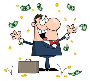 Money clipart image office worker who got a raise