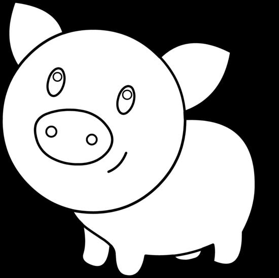 Pig outline clip art clipart