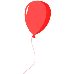 Red balloon clip art clipart