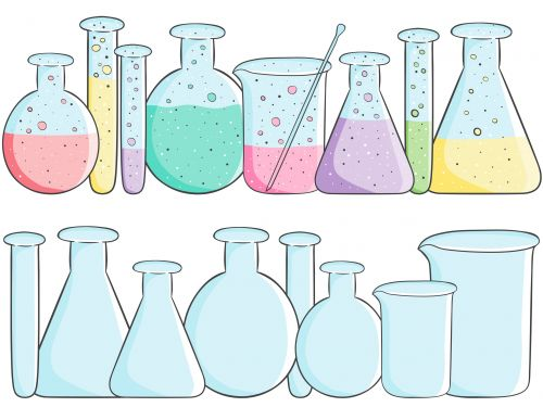 School clipart beakers empty and full science clip art and