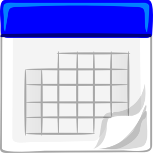 Blue calendar clip art at vector clip art online