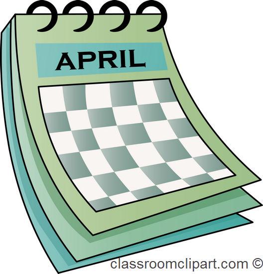 Calendar april calendar classroom clipart